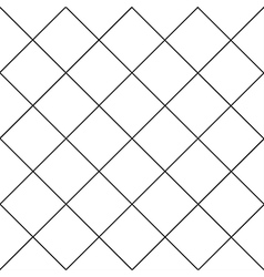 Black Grid White Diamond Background vector image vector image