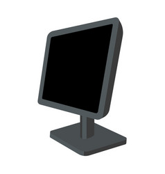computer monitor icon in cartoon style isolated on vector image vector image