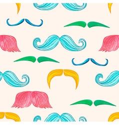 Mustache seamless vector