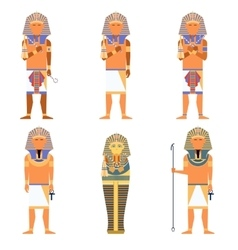 Set of Pharaons vector image