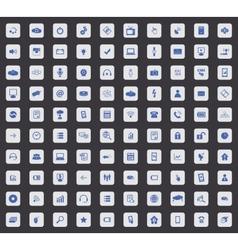 100 Hi-Tech icon set square vector