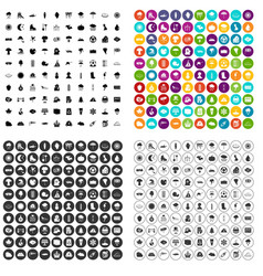 100 weather condition icons set variant vector image