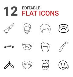 12 beard icons vector