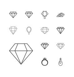 13 precious icons vector