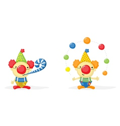 2 clowns vector image