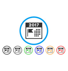 2017 year national day rounded icon vector image