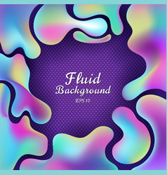 abstract 3d fluid gradient colorful shape on vector image