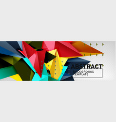abstract background flying color geometric vector image