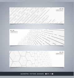 abstract of modern geometric line banners vector image