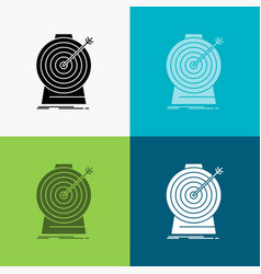 aim focus goal target targeting icon over various vector image
