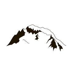 alps peaks silhouette elements mont blanc vector image