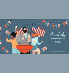 America independence day bbq invitation banner vector
