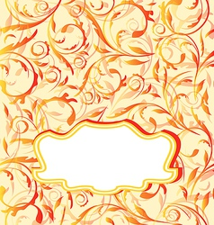 autumn orange background seamless floral texture vector image