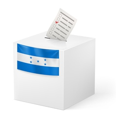Ballot box with voting paper honduras vector