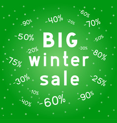 big christmas discounts winter sales background vector image