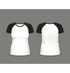 Black raglan t-shirt template vector