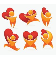 bright love concepts vector image