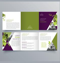 brochure design 720 vector image