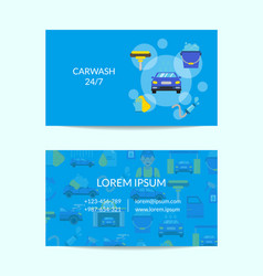 Business card template for car washing vector