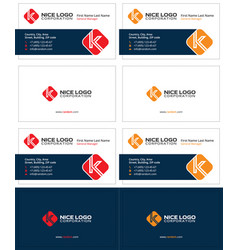 Business card with the letter k attractive cards vector