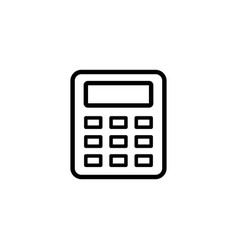 calculator line icon in flat style for apps ui vector image
