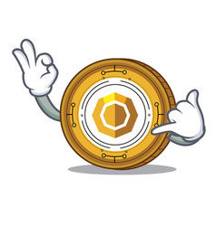 Call me komodo coin mascot cartoon vector