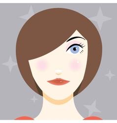 Cartoon a pretty young girl vector