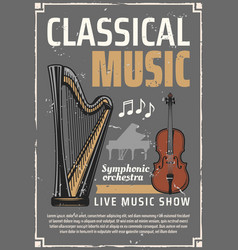 Classic music live show musical instruments vector