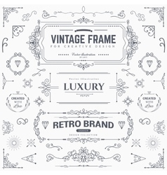 Collection of vintage patterns vector image