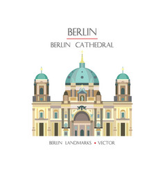 colorful berlin cathedral vector image