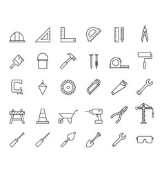 construction property services icons vector image