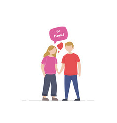 couple young people vector image
