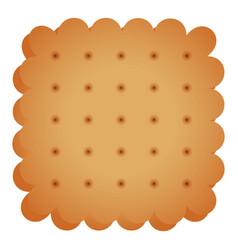 cracker cookie icon cartoon style vector image