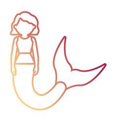Cute mermaid icon image vector