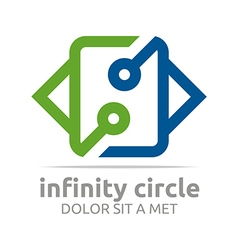 Design connect infinity circle vector
