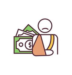 Disability compensation rgb color icon vector