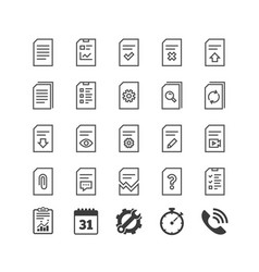 document line icons report checklist and copy vector image