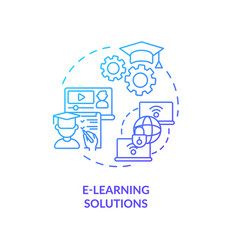 e-learning solutions concept icon vector image