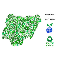 eco green collage nigeria map vector image