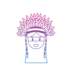 Face native american aboriginal indian headwear vector