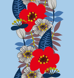 floral seamless pattern for textile vector image