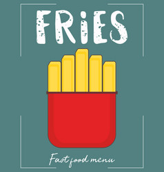 french fry stick potato vector image