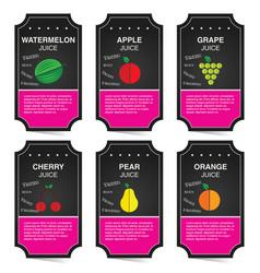 Fruit juice banner on dark background vector