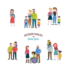 Gay family different kind of families vector