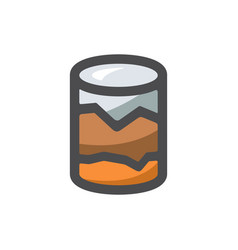 Geological survey earth research icon vector