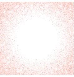 gold rose glitter confetti dots frame vector image