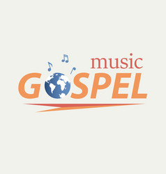 Gospel music in world vector