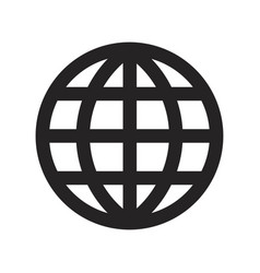 grid world icon vector image