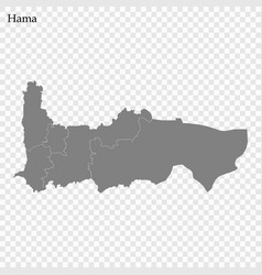 High quality map governorate syria vector