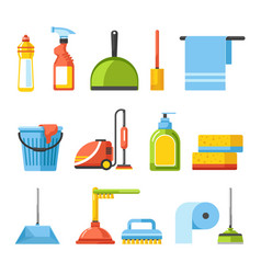 household and housekeeping equipment cleaning vector image